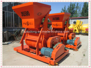 500L Twin Shaft Compulsory Electric Concrete Mixer (JS500)