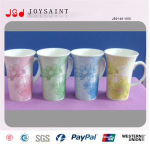 V Shape Porcelain Mug with Handle pictures & photos