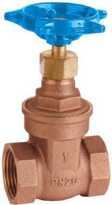 Wras Approved Bronze Non-Rising Stem Gate Valve (THREADED)