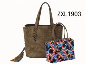 Italy Designer Brands Logo Manufacturers Lady PU Leather Handbag (ZXL1903-3) pictures & photos
