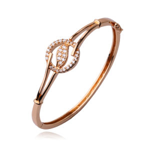 50321 Hot-Sales Ancient Royal Rose Gold-Plated Imitation CZ Jewelry Bangle pictures & photos