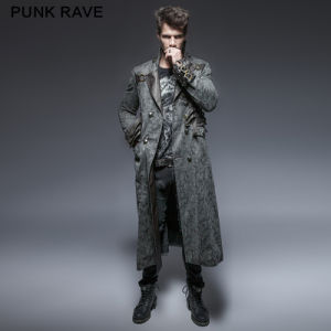 Y-647 Punk Spring Washing Removable Adjustable Mens Long Coats pictures & photos