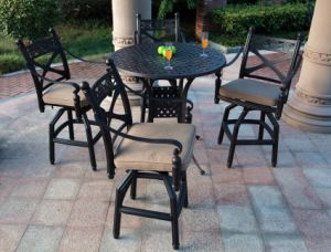 Classic High Dining Cast Aluminum Garden Furniture pictures & photos