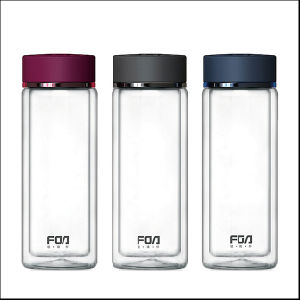 Fuguang High Quality Fb1015-280 280ml Double Wall Glass Water Bottle pictures & photos