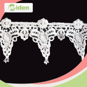 Wholesale Nigerian Polyester Embroidery Water Soluble Lace for Decoration pictures & photos