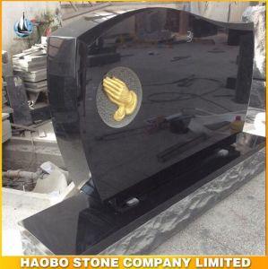 Shanxi Black Granite Etched Granite Headstones pictures & photos