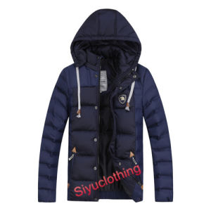 Mens Hoody Dark Color Fashion Popular Down Padding Classical Jacket (F-1630) pictures & photos