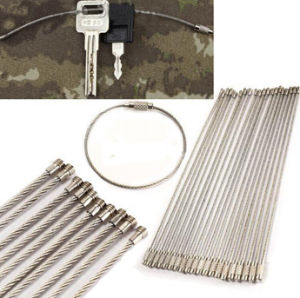 Multi-Functional Outdoor Camping Stainless Steel Rope Keychain Ring pictures & photos