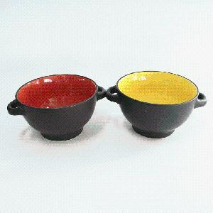 Ceramic Bowl with Two Handles pictures & photos
