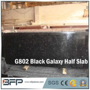 Black Galaxy Granite Slab Half Slab for Countertops pictures & photos
