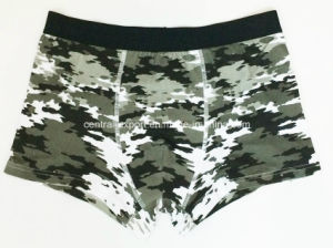 Allover Camouflage Printed New Style Men′s Boxer Short Underwear pictures & photos