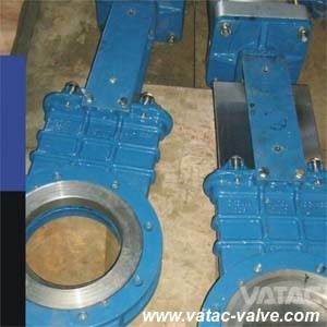 Double Flanged Stainless Steel Rising Stem Knife Gate Valve pictures & photos