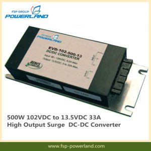 500W 102VDC to 13.5VDC 33A High Output Surge DC-DC Converter pictures & photos