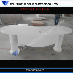 Contemporary Luxury Elegant White Desk Office Furniture Executive Description Smart Modern Desk Office Furniture pictures & photos