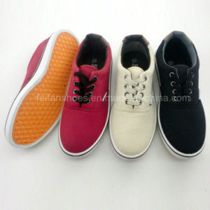 Latest Men′s Injection Shoelace Canvas Shoes Casual Shoes (PY16-03-12) pictures & photos