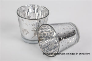 Hot Sell Candle Holder Candlestick Electroplated Glass Wax Cup Glass Mug pictures & photos