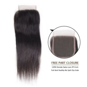 Free Style Human Hair Lace Closure Silky 12inches pictures & photos