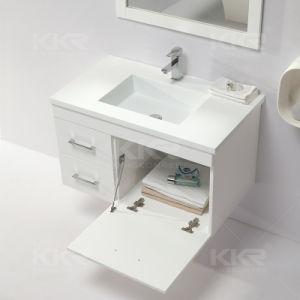 Custom Made Resin Solid Surface Bathroom Cabinet Vanity Basin pictures & photos