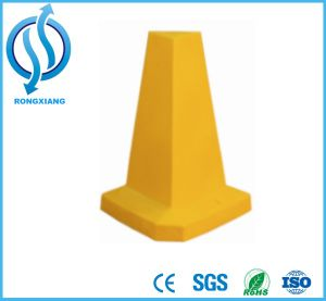 Colorful Flat PE Road Cone pictures & photos