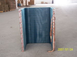 7mm Screwed Copper Tube Louvered Fin Air Conditioiningsystem Heat Exchanger pictures & photos