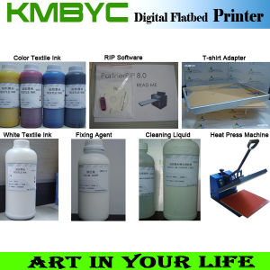 Byc-A3 6 Color Flatbed Digital T Shirt / Food Printer Popular in Hot Sale pictures & photos