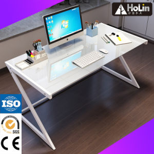 Home Office Furniture Glass Table with Metal Frame pictures & photos