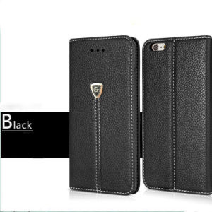 Genuine Leather Wallet Card Case Magnetic Flip Cover for iPhone X pictures & photos