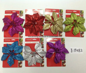 4inch Aitificial Glitter Christmas Decoration pictures & photos