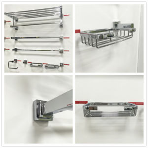 Sanitary Ware Bathroom Accessories Stainless Steel Double Towel Shelf (ZF938) pictures & photos