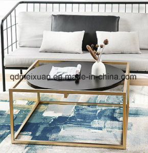 Manufacturers Selling American Living Room Wrought Iron Wood Coffee Table, Coffee Table (M-X3790) pictures & photos