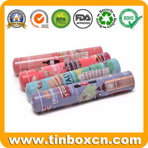 Metal Tin Pen Holder for Gifts, Brush Pot Tin Box pictures & photos