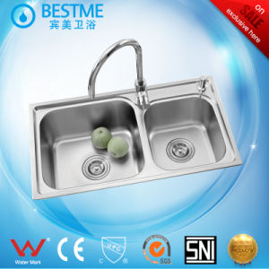 Modern Stainless Steel Kitchen Sink From China (BS-8004-201P) pictures & photos