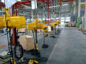 0.5ton Electric Chain Hoist with Manual Trolley pictures & photos