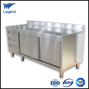 Stainless Steel Kitchen Cabinets with Sliding Doors pictures & photos