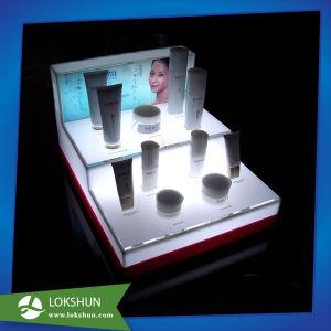 Custom Acrylic Cosmetics Display, Plexi L-Shape Make-up Display pictures & photos