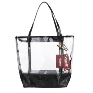 Women Girl Waterproof Transparent Beach Swimming Zip Clear PVC Tote Bag pictures & photos