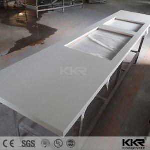 Pure White 3cm Artificial Marble Quartz Countertop for Kitchen (V170816) pictures & photos