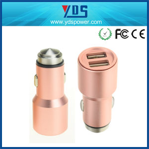 3.1A Metal Case Dual USB Car Charger with Same Color pictures & photos