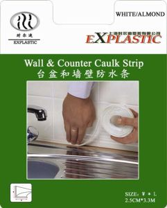 Caulk Strip to Seal Washbasin and Wall