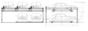 Two Level Esp. Suitable for Cbd Puzzle Parking System Lift pictures & photos