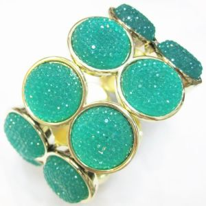 Elastic Green Beaded Fashion Jewelry Bracelet (HBL-10255E)