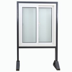 Standard Size Energy Saving Double Plastic PVC Window UPVC Sliding Glass Window pictures & photos