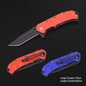 Folding Knife with Anodized Aluminum Handle (#3930) pictures & photos