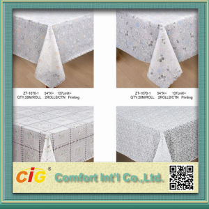 54′′ Pringting PVC Table Cloth Lace Cover in Roll pictures & photos