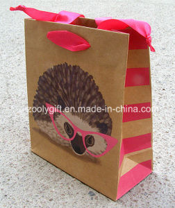 Recycle Brown Kraft Paper Shopping Bag Eco Friendly Kraft Paper Bag pictures & photos