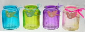 Glass Jar with Ribbon pictures & photos