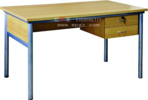 Wooden School Teacher Desk/Cheap School Teacher Desk/Office Teacher Desk with Drawer pictures & photos