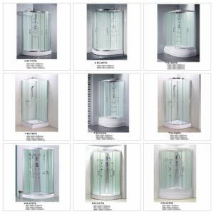 Quadrat Tempered Transperant Glass Sliding Bathroom pictures & photos