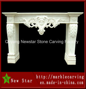 Professional Factory Price Decoration Marble Stone Fireplace for Sale (NS-1124) pictures & photos