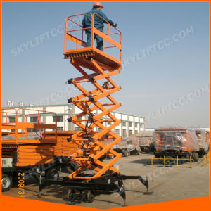 15FT Hydraulic Electric Mobile Scissor Lift for Lifting Man pictures & photos